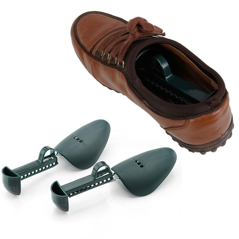 10pcs Practical Plastic Adjustable Shoe Stretchers (Dark Green)