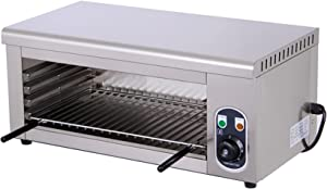 2000W Commercial Electric Oven, 50~300°Toaster Ovens Countertop, Convection Oven with 48.8x24.8cm Grilled Net, CE/FCC