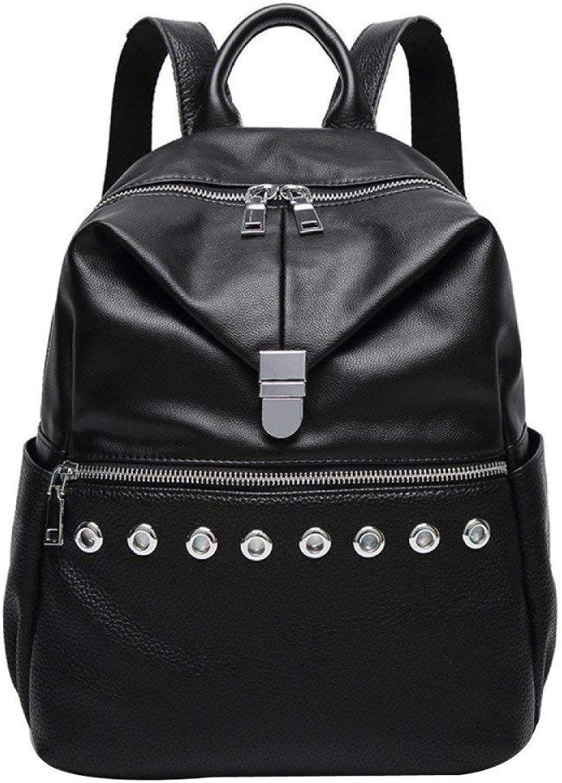 Frauen Rucksack Rucksack Damenmode Nieten Studententasche Outdoor-Tagesrucksack (Farbe   schwarz, Größe   Einheitsgröße) B07Q1C28K3   Konzentrieren Sie sich auf das Babyleben