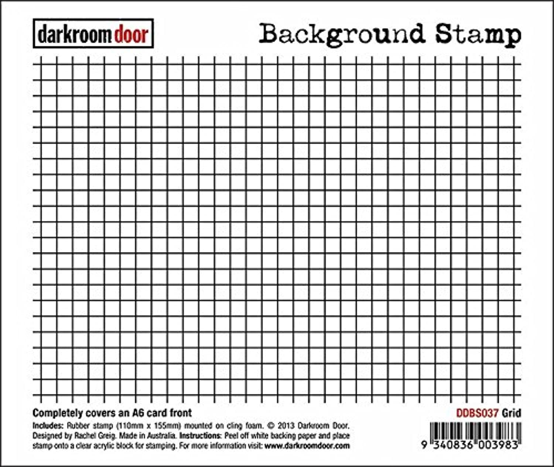 Darkroom Door Gummi Stempel Grid Hintergrund B00MNBRYJ4 | Deutschland München