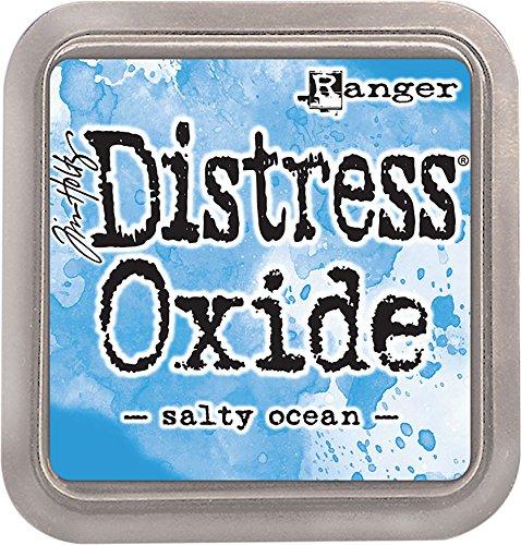 Ranger TDO56171 Tim Holtz Distress Oxide Ink Pad Salty Ocean, Bleu, 7,5 x 7,5 x 1,9 cm