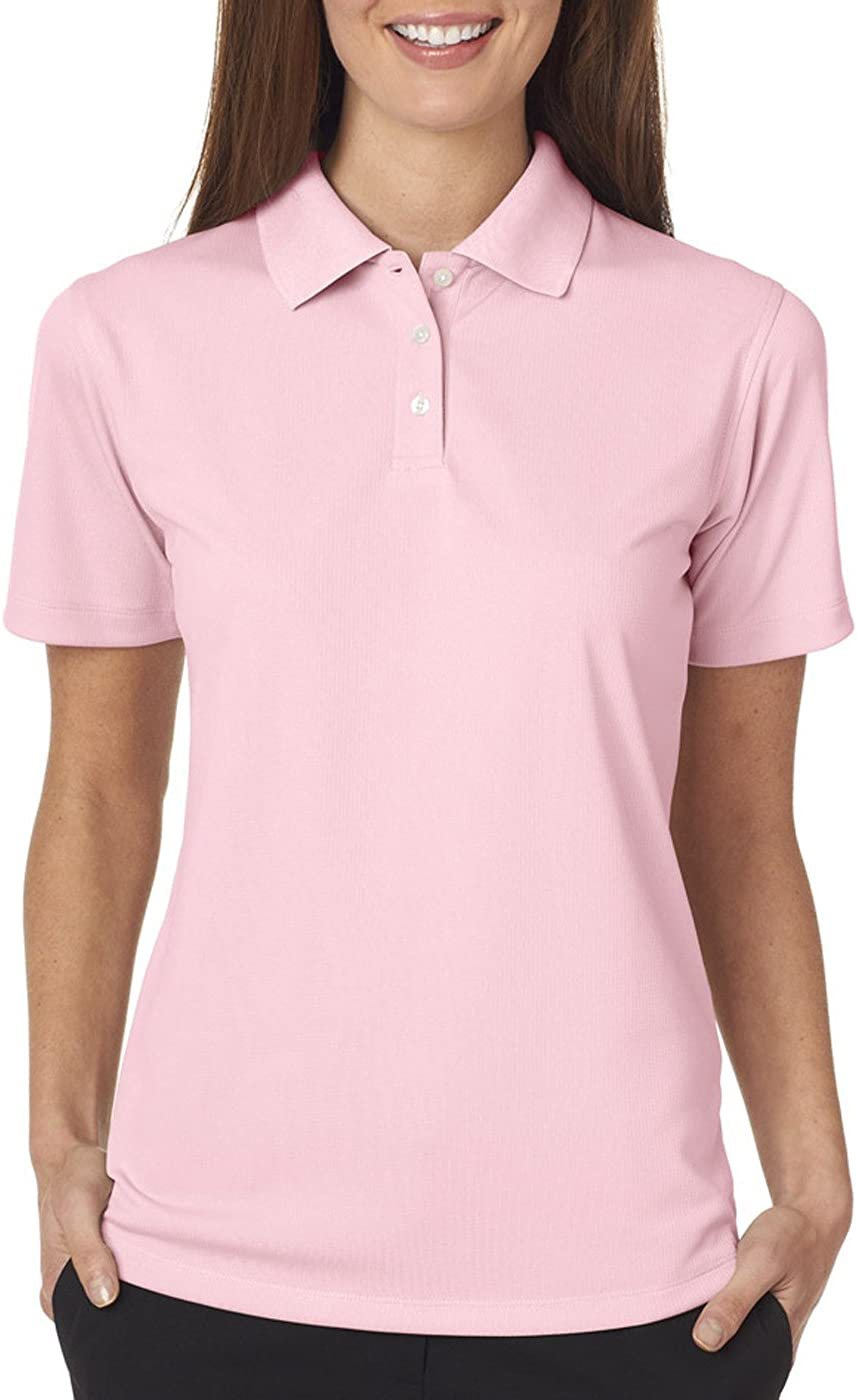 UltraClub Ladies' Cool & Dry Stain-Release Polo Shirt, Pink, Small