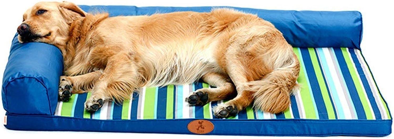 Qz Extra Large Dog Bed /Couch, Blue Waterprova Indestructible Pet Sofa, 120 _80cm (colore:A)