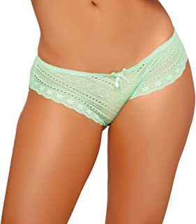 032512acb4e Seven  til Midnight Women s Tangled Lace Panty with Lace-up Detail