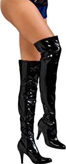 Thigh-High Boots With Stiletto Heels