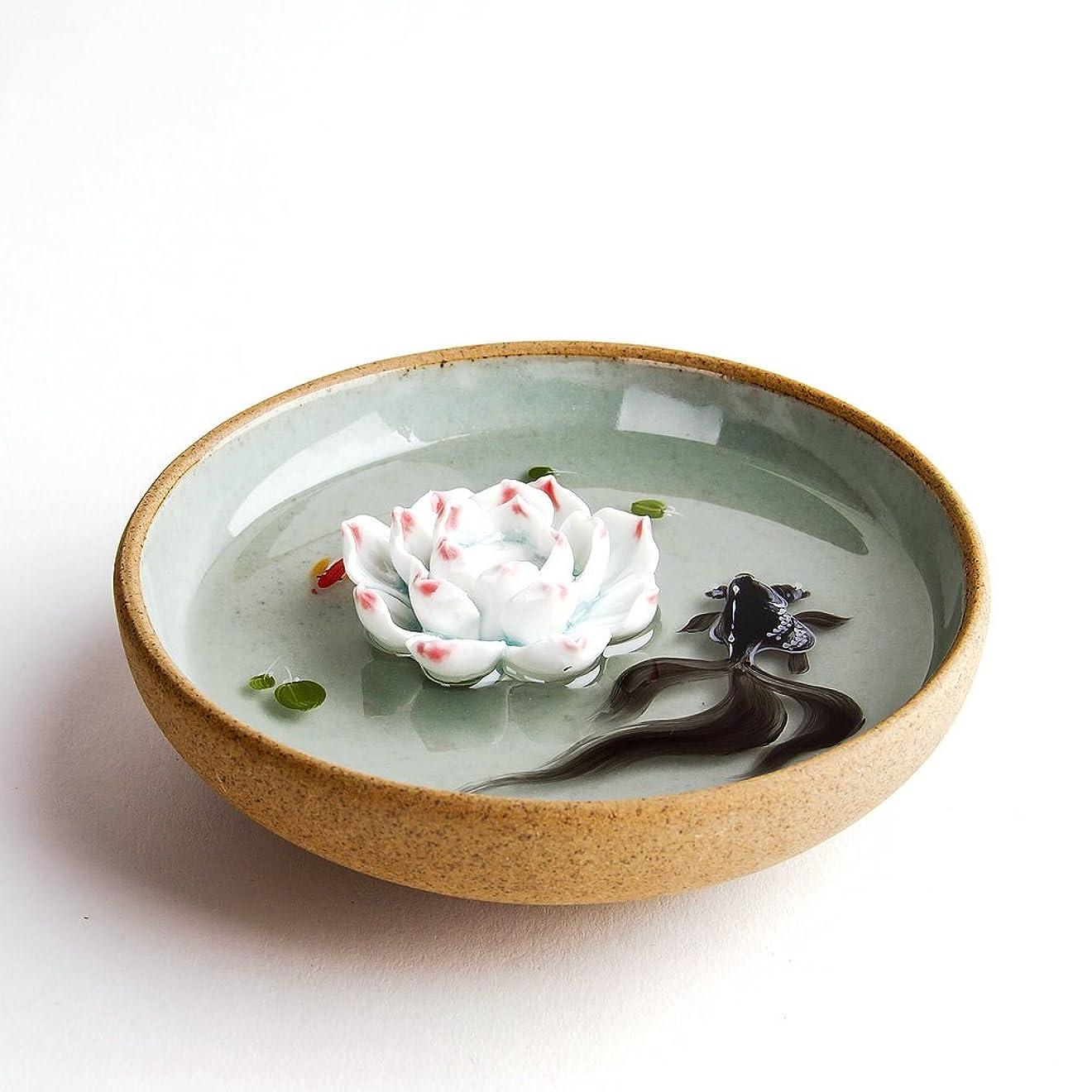 見落とす変更可能くるくるお香立て お香たて 香の器 お香を焚いて 香皿,陶磁器、緑