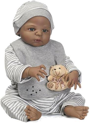 GHCX Silikon-Simulation Reborn Puppe Sü Schwarz Haut Baby Kann Das Wasser Spielzeug Kinder Kreatives Geschenk 5cm