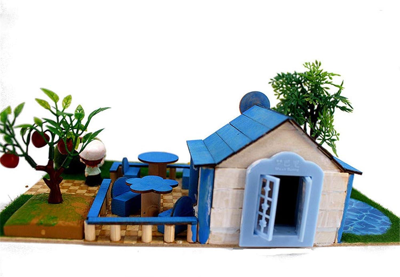 Kinder Spielzeug Puppenhaus mit Mbeln Gebude Modell Elfen Iglu Kinder Hand von Hand montiert DIY 3 D Bausteine Spielzeug kreative Geschenk für Jungen und Mdchen Rollenspiel Kinder Spielzeug Gesch