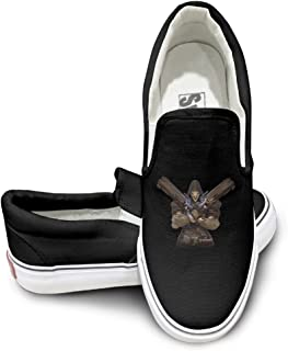 EWIED Unisex Classic Video Game Cool Reaper Slip-On Shoes Black