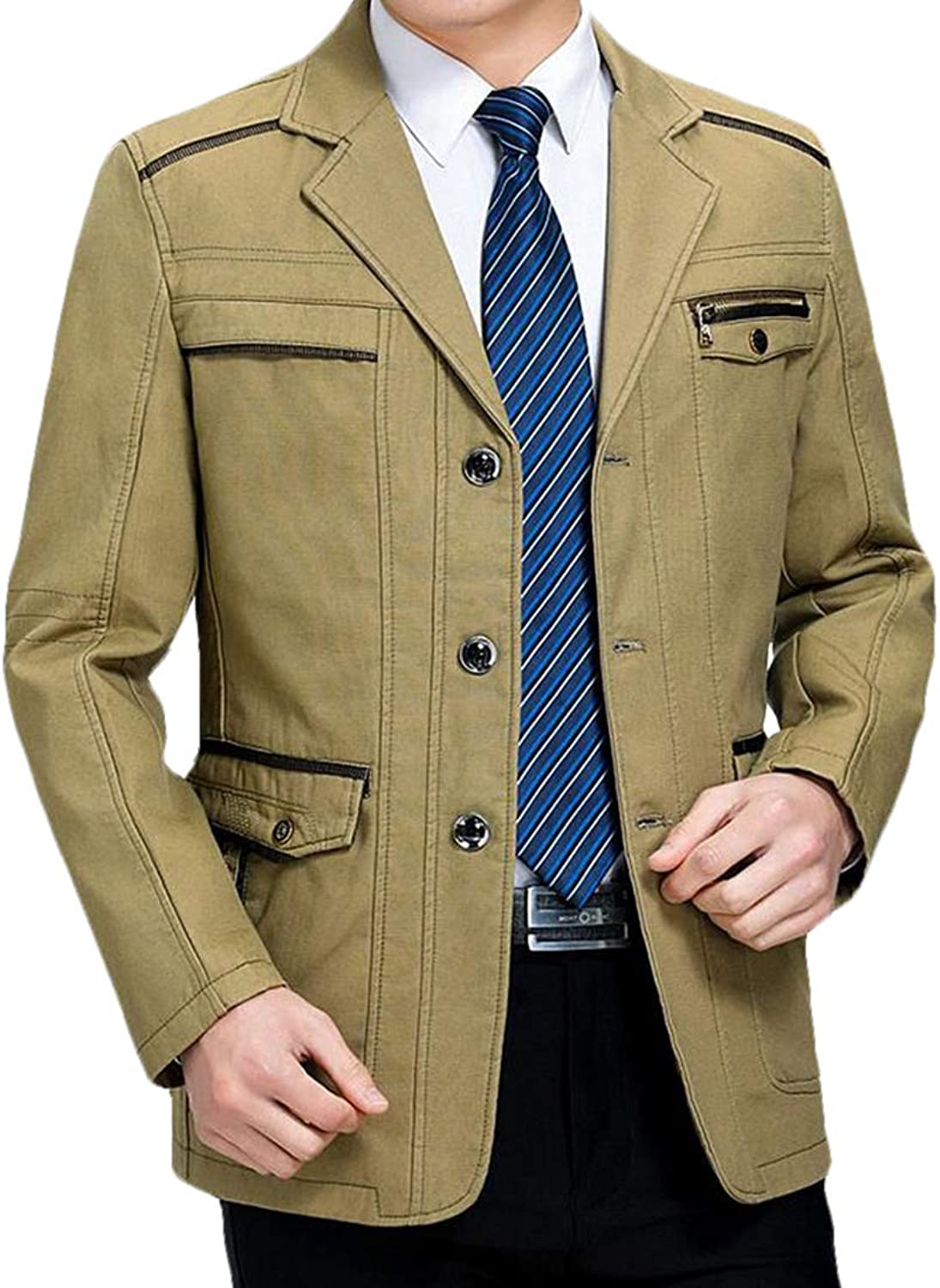 Jofemuho Mens Double Breasted Thermal Plus Size Lamb Wool Lined Lapel Neck Down Coat Jacket Outerwear