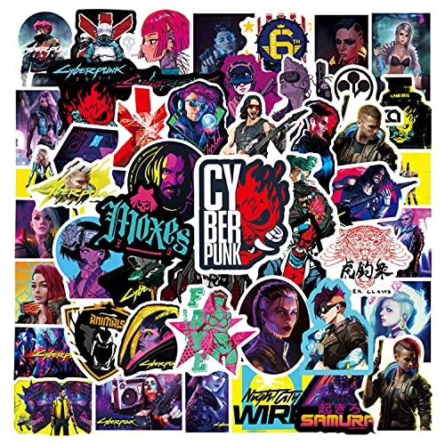50 Stück Punk Sticker Aufkleber, Wasserfeste Vinyl Aufkleber, Graffiti-Aufkleber für Laptops, Gitarren, Skateboards, Motorräder, Fahrräder, Reiseaufkleber für Erwachsene und Kinder-Stiker Set