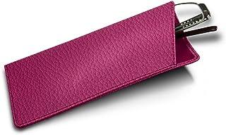 Lucrin   Etuis für dünne Brillen   Fuchsia   Genarbtes Leder