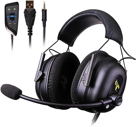 Claelech Cuffia Gaming canali 7.1 con Microfono, Rivestita in Pelle, Multipiattaforma, USB e 3.5mm interfaccia, Compatibile con PC, PS4 e Xbox - Trova i prezzi più bassi