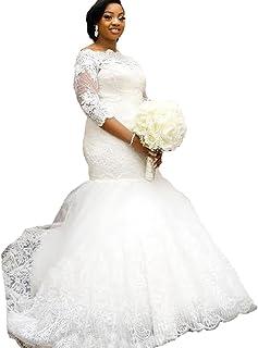 Amazon.com: Long Sleeve - Plus Size / Wedding Dresses / Dresses ...