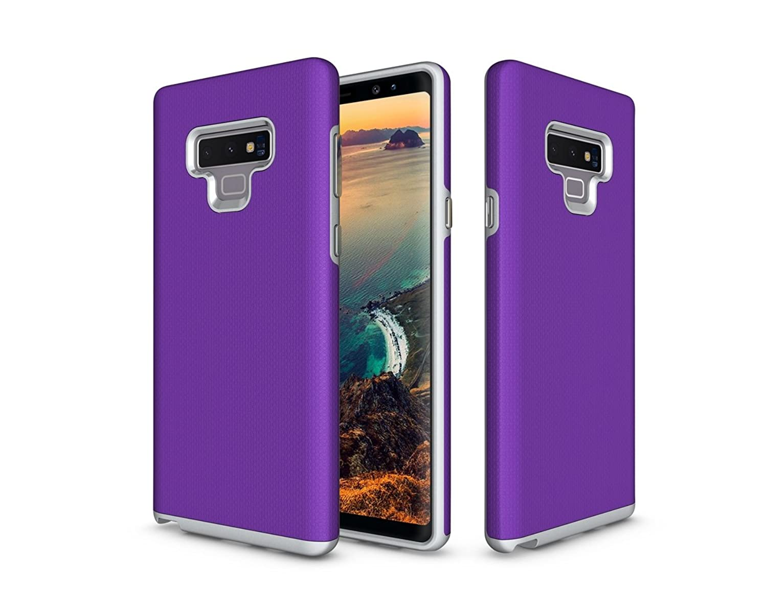 zukabmwus Samsung Galaxy Note 9 Case, Thin Slim Bumper Full Lens Protection Skin Soft Case Back Cover Compatible with Samsung Galaxy Note 9 - Purple