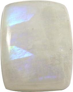 Gems&JewelsHub Piedra lunar arco iris octágono cabujón natural de 48 quilates OG41