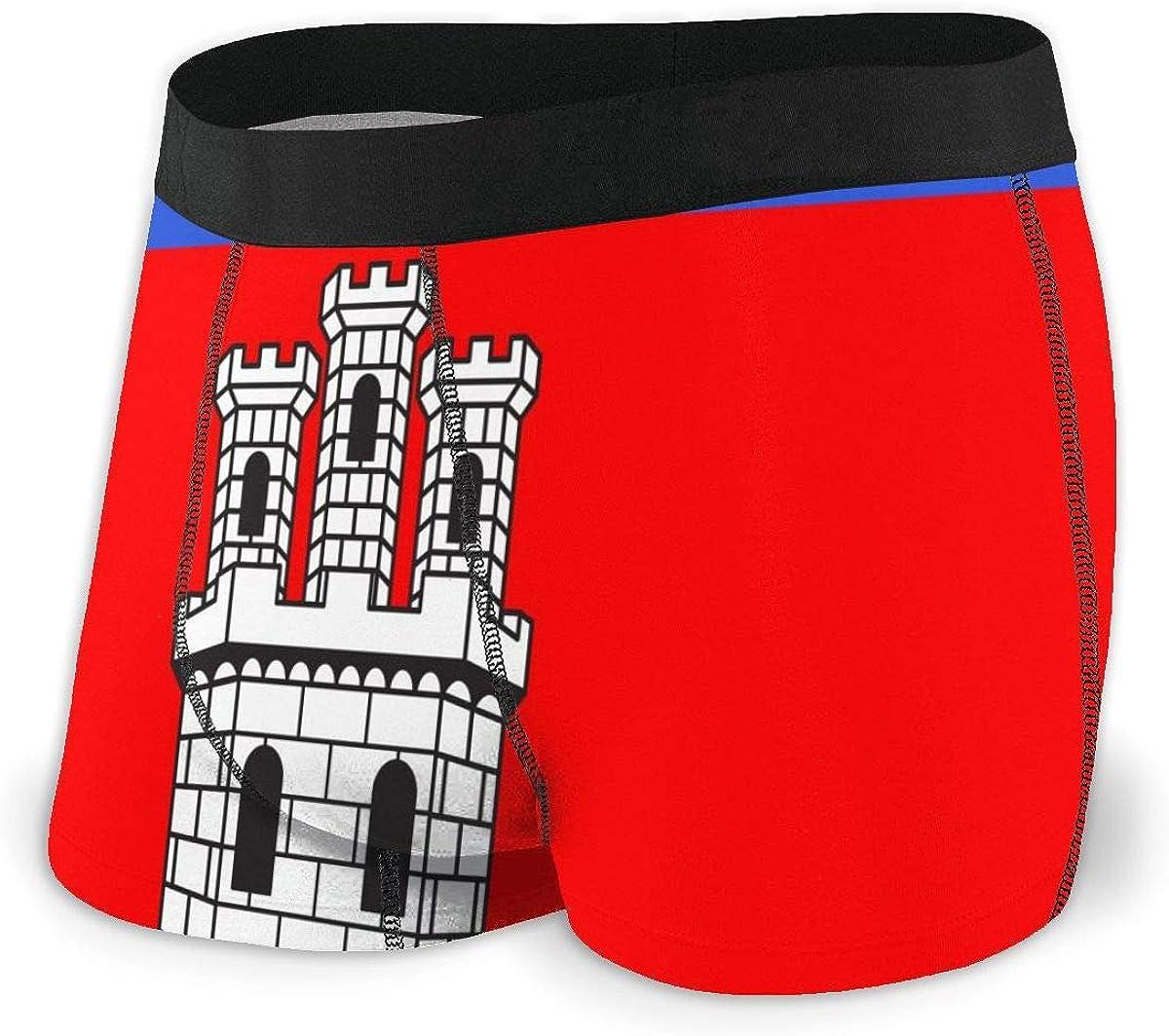 Mens Boxer Briefs Alpes-De-Haute-Provence Castellane Flag Breathable Underwear