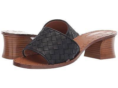 Bottega Veneta Intrecciato Heeled Sandal (Black) High Heels