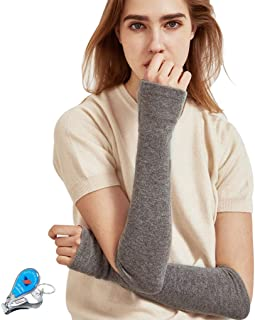 WITERY Women Long Fingerless Gloves Knit Arm Elastic Weave Warm Winter Gloves