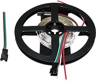 Lighting-Source Sk6812 Led Strip Light IC5050 Built-in RGB Dream Color DC5V White/Black PCB Plate (White PCB IP30, 1m 60led/m)