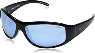 Revo Re 5014 Tander Wraparound Polarized Wrap Sunglasses, Shiny Black Blue Water, 64 mm