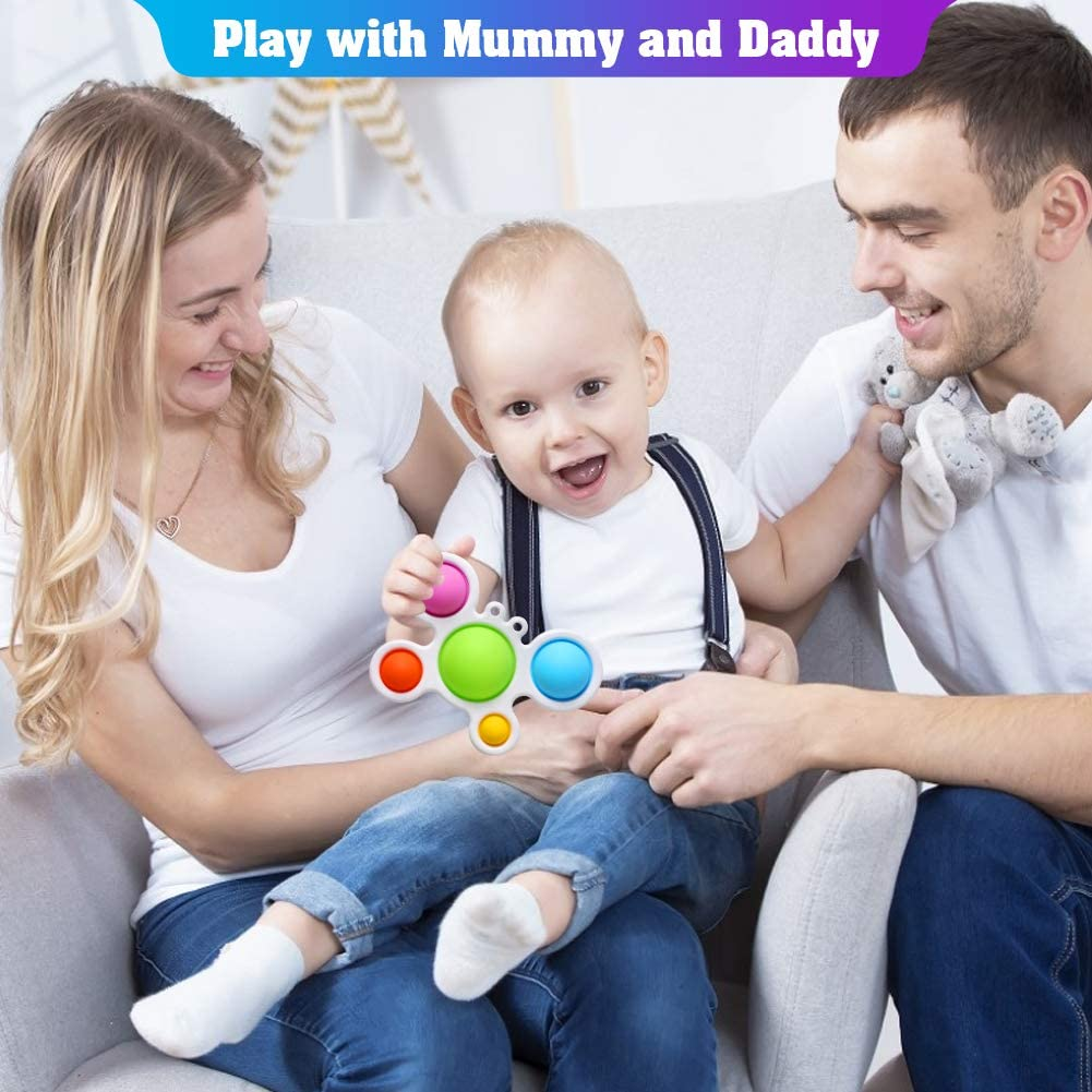 Number Learning Toys for Kids BFYWB Push Pop Simple Dimple Fidget Toy Stress Relief Anti-Anxiety Sensory Fidget Toys for Children Men Women Toys Gifts for 9-12 12-18 Months 1-6 Year Old Boys Girls