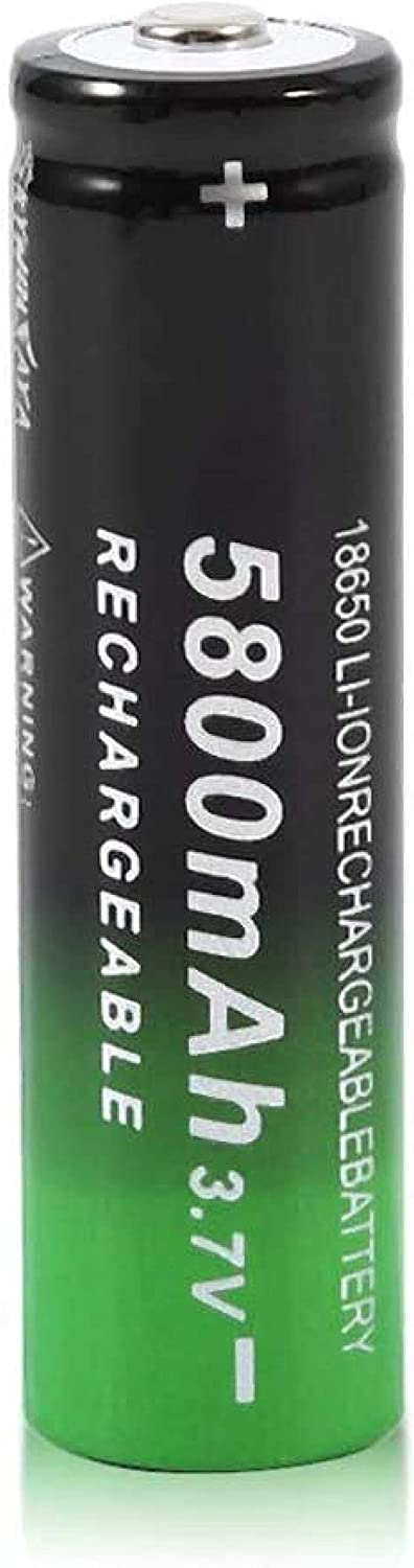 18650 Batteries Kansas City Mall 3.7V Rechargeable Batter top Button safety 5800mah