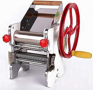 製麺機 麺機 手動 パスタメーカー 厚さ幅調節可能 0.5-4mm ステンレス製 そば/うどん/生パスタ/中華麺 餃子/肉まんなど家庭用 (白い, 2mmと4mm)