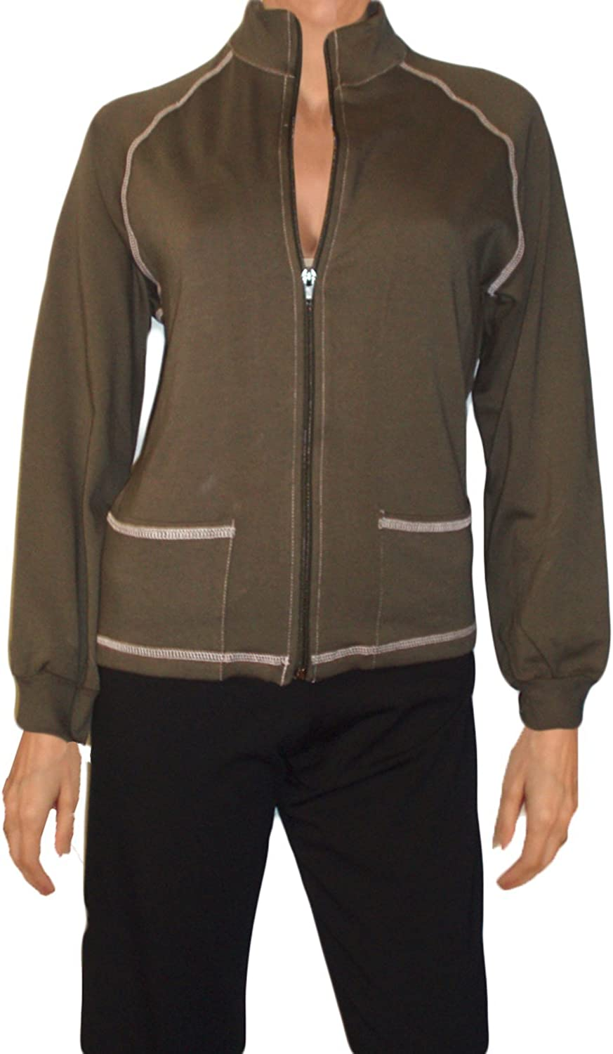 Ooh La La Front Zip Olive Green Jacket