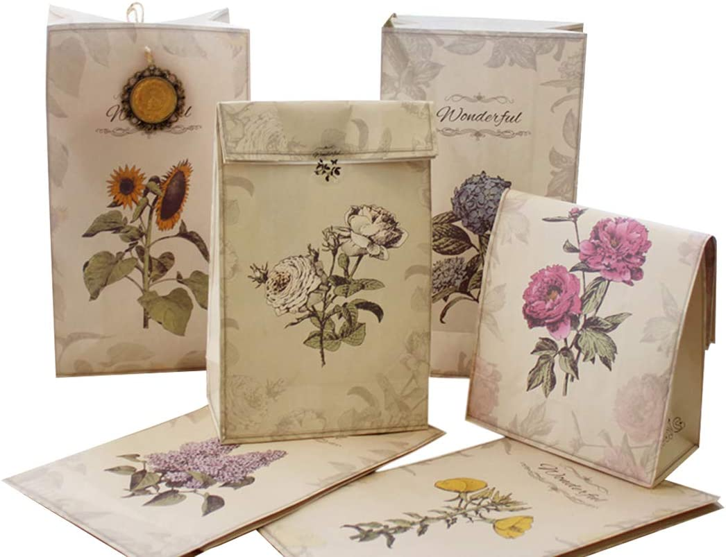 Paper Pastry Bags JUSTDOLIFE 12PCS Cand Vintage Chicago Mall Max 74% OFF Cookie Bag