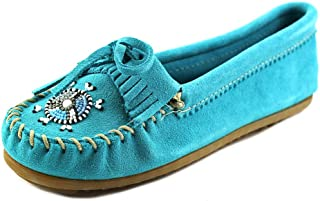 9202a8cea20 Minnetonka Women s Me to We Maasai Moccasin Turquoise Suede ...