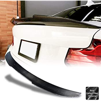Rear Wing M4 Style Carbon Fiber IKON MOTORSPORTS Trunk Spoiler Compatible With 2014-2020 BMW 2 Series F22 Coupe CF