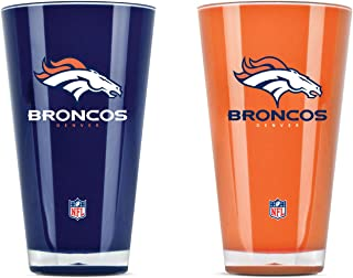 denver broncos whiskey glass