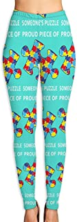 Ennieee Women's Yoga Pants Proud Piece of Someone's Puzzle Elastic Workout Running Leggings Pants