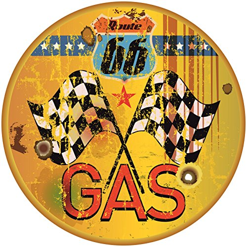 Finest-Folia Gas ROUTE66 Old School Motorcycles Pegatinas Cafe Racer Retro # 16