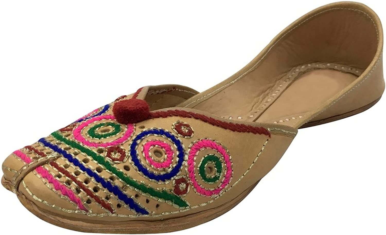 Step n Style Women Pure Leather Khussa shoes Jutti Ballerina Ballet Flats Slipper