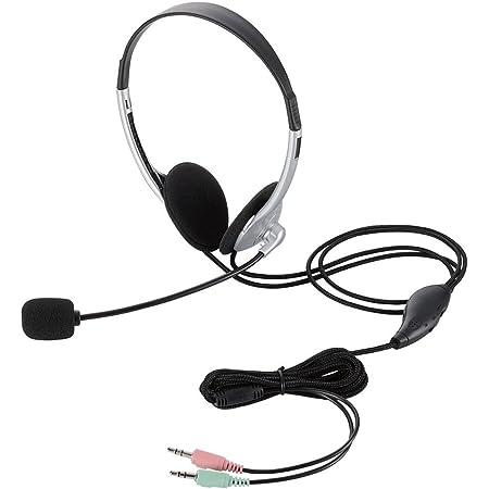 エレコム ヘッドセット マイク 両耳 オーバーヘッド 1.8m HS-HP22SV