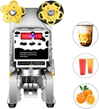 450W Commercial Electric Fully Automatic Sealer Paper/Plastic Cup Sealing Machine for Bubble Milk Tea Coffee Smoothies Sealer Touch Screen Control Panel 90/95mm