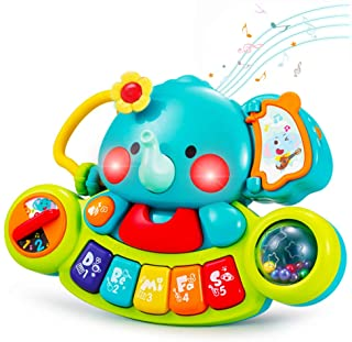 HOLA Baby Piano Toys 6 to 12 Months, Elephant Musical Light up Keyboard Toys for Toddlers 1-3, Kids Infant Learning Educat...