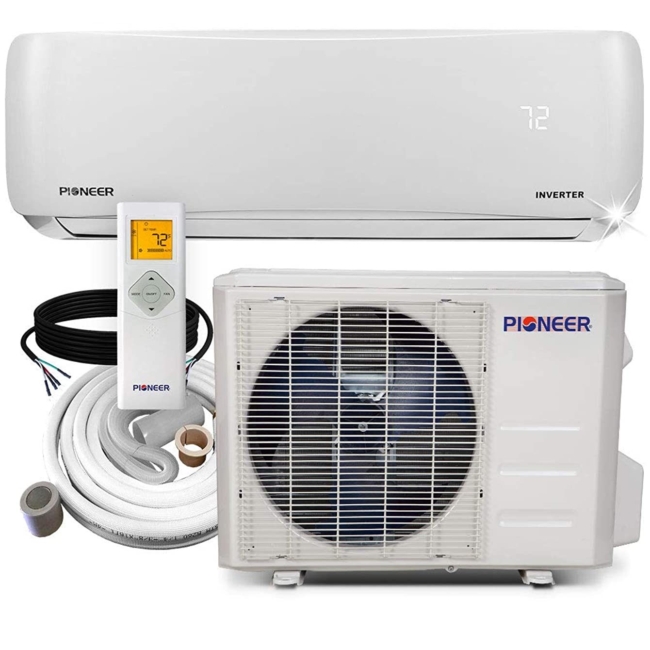PIONEER Air Conditioner WYS018GMFI22RL Mini Split Heat Pump, 18000 BTU-208/230 V