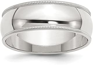 milgrain wedding band ring price