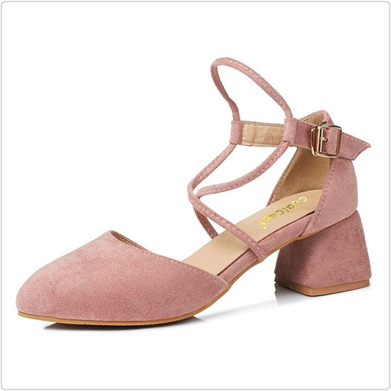 5 colors Size 33-43 Women High Heel Sandals Women Ankle Strap Platfrom Spike Heel Sandals Summer shoes Women Footwears Pink 10