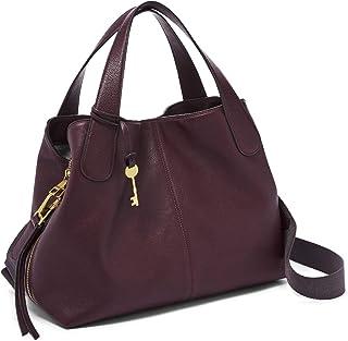 Fossil Maya Leather 34.29 cms Purple Gym Shoulder Bag (ZB7781503)
