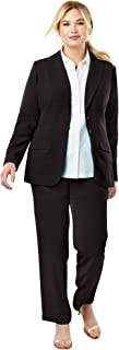 Jessica London Women`s Plus Size Single Breasted Pant Suit