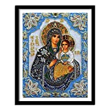ZXXGA 5D DIY Diamante Pittura Set Figure religiose Diamante di Cristallo Punto Croce Artigianato d'Arte da Parete Diamante Quadrato 40x30cm