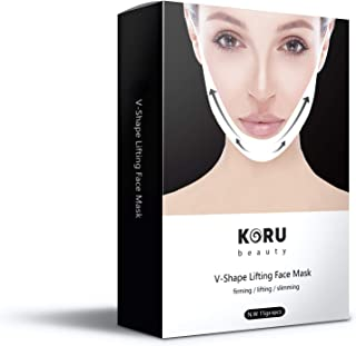 KORU STORE V Line Mask, Face Lift, Lifting Up Patch Double Chin Reducer Neck Contour Tightening Firming Moisturizing Сolla...