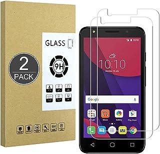 E-Hamii [2-pack] Alcatel Pixi 4(4.5) skärmskydd, 0,26 mm HD anti-repor och anti-fingeravtryck skyddsfilm, 9H härdat glas s...