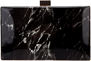 Bonjanvye Marble Pattern Bag and Leather Puses for Women Evening Clutch