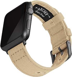 Archer Watch Straps   Cinturini Ricambio di Tela per Apple Watch, Uomini e Donne   Vari Colori, 38/40mm, 42/44mm