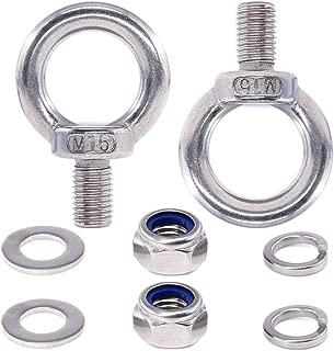 TOUHIA M8 304 Stainless Steel Ring Shape Shoulder Lifting Rigging Eye Bolt 5pcs